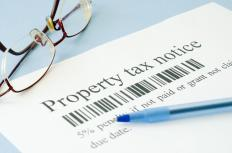 Property taxes are levied based on a real estate assessment.