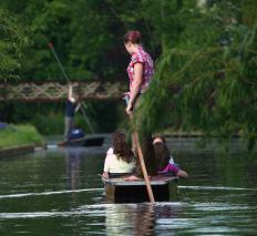 Punts require setting poles to propel.