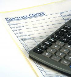 The purchase order process starts with a document that goes from the buyer to the seller.