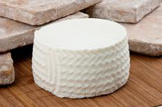 Queso fresco, which is used to make pan de yuca.