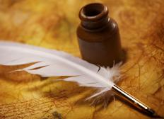 People who work with traditional quill pens still use ink blotters for their original purpose.