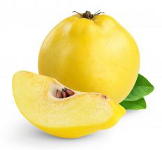 Quinces are plump, slightly ovoid fruits.