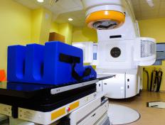 Radiation therapy technologists might work in a hospital radiation therapy department.
