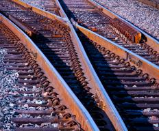 A point machine is used to allow railway trains to switch tracks smoothly, which is usually called a railroad turnout.