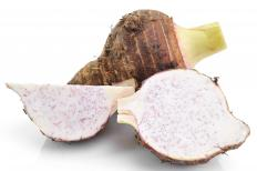 Taro is a popular type of corm.