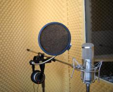 Recording booths may be made with high density foam.