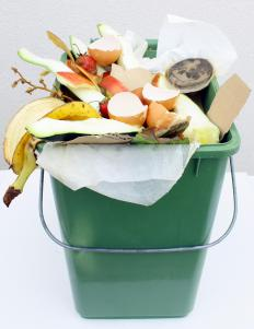 A compost bucket.