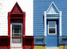 Before painting a house, consider what the selected paint scheme will look like with the surrounding neighborhood.