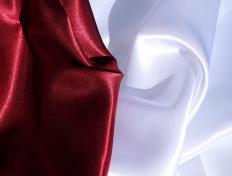 Satin is a common material used to make nightgowns.