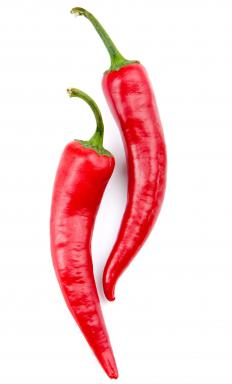 Cayenne peppers are a variety of the Capsicum annuum species.