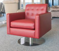 Many barrel chairs are designed as swivel chairs.