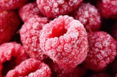 Frozen raspberries can be used to make raspberry coulis.