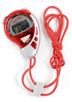 Stopwatches are handheld timers used at a variety of sporting events.