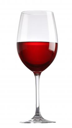 Red wine glasses typically have a larger bowl and are tapered toward the edge.