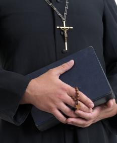Catholic priests may not marry, while Eastern Orthodox priests may marry before being ordained.