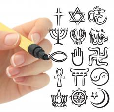 Various religions exist worldwide.