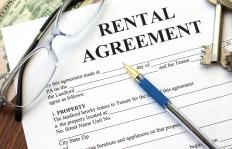 A rental agreement on an apartment contains a date of record.