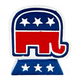 The GOP adopted the elephant as its symbol after an 1874 political cartoon.