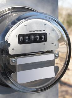 Residential electric meter.