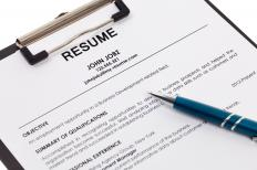 A curriculum vitae lists a person's work history in chronological order and contains elements similar to a resume.