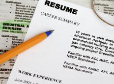 A resume submitted to the Army Corps of Engineers should outline experience and qualifications used on similar projects.