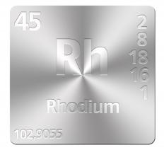 Catalytic converters can use rhodium as a catalyst.