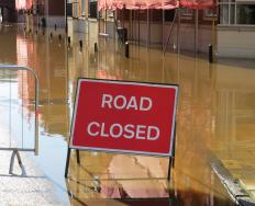 If a culvert is ineffective, a flooded road must be close down until the water recedes.