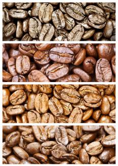 Mocha coffee is lightly roasted.