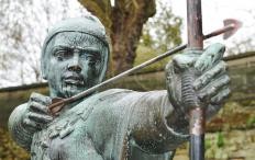 The mythical figure of Robin Hood used a bow and arrows to rob his victims.