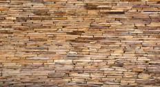 Natural stones can be cut and stacked to make cladding.