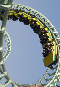 Disneyland features a variety of amusement park rides.