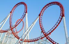 Riding a roller coaster can cause dizziness.