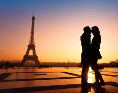 Wedding guests might contribute toward the cost of air travel for a European honeymoon.