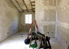 Joint compound, also known as mud, is used to cover drywall tape and nail or screw holes.