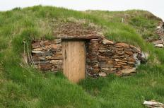 Before refrigeration was invented, people stored vegetables and food under ground in a root cellar.