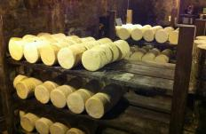 Roquefort goes through a series of processes, including salting and natural ripening in caves.