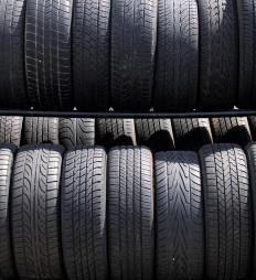 Synthetic rubber is often used in car tires.