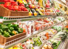 Produce, meats, and other perishable items sold at grocery stores are considered fast-moving consumer items.