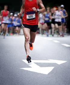 Mental strength keeps people going when running a marathon even when they feel physically tired.