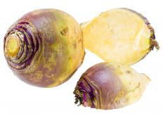 The thick skin of a rutabaga must be removed before roasting the vegetable.