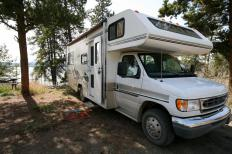 "RV camping in a rustic area with no amenities is called ""boondocking""."