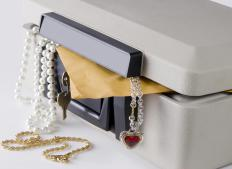 Important documents may be stored in a safety deposit box.