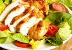 Skinless chicken breast that is cooked in a steamer remains moist and flavorful.