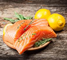 The USDA recommends lean meats, such as salmon.