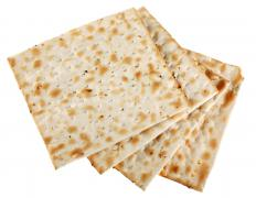 Matzo is a flatbread that is traditionally served at Passover.