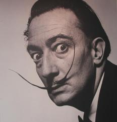 Salvador Dali's style of mustache is a common category in mustache competitions.