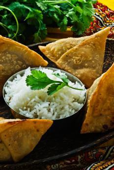 Samosas can be made from filo dough.