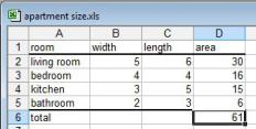 Sample spreadsheet.
