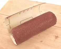 A rented steamer and sandpaper may be used to remove wallpaper.