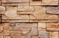 Reclaimed brick has been previously used.